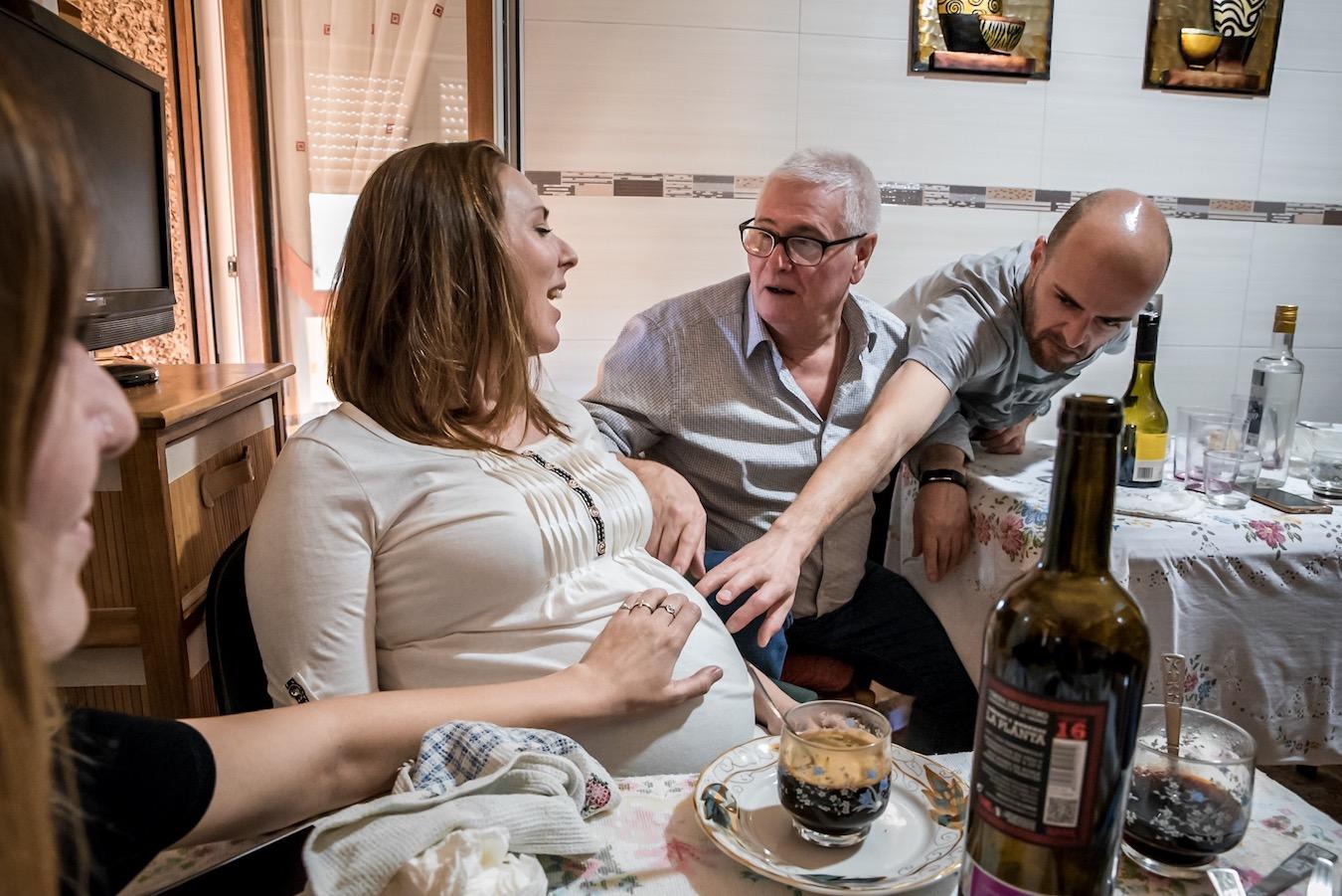 Asturian family in Pola de Lena, Asturias