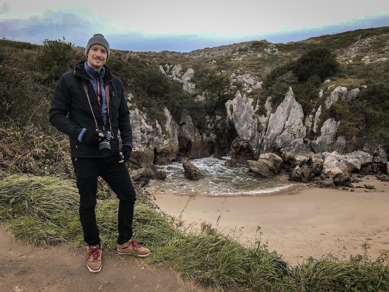 Playa de Gulpiyur, Asturias - the smallest beach in the world - northern Spain
