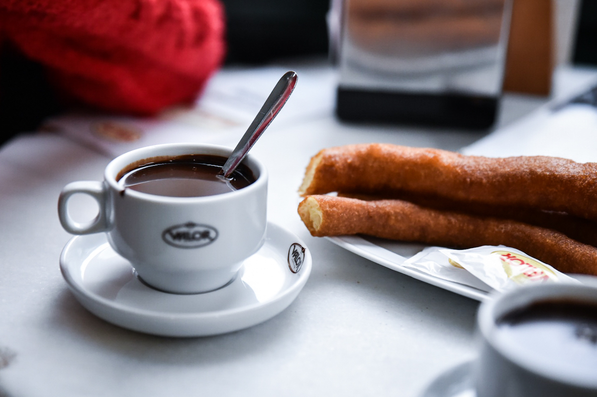 Churros con chocolate in Valencia