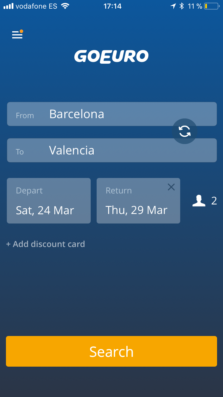 GoEuro App Review - How to Find Cheap Train Bus Flights in Spain and the Rest of Europe