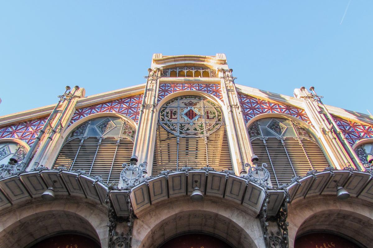 Valencia Central Market Art Deco Facade - by Ben Holbrook