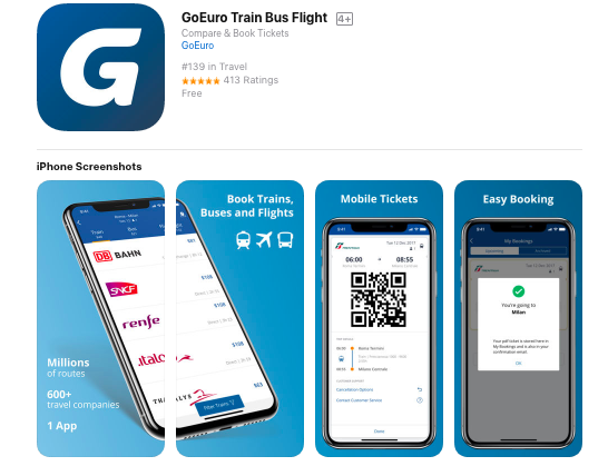 GoEuro Train Buses Flights App Review
