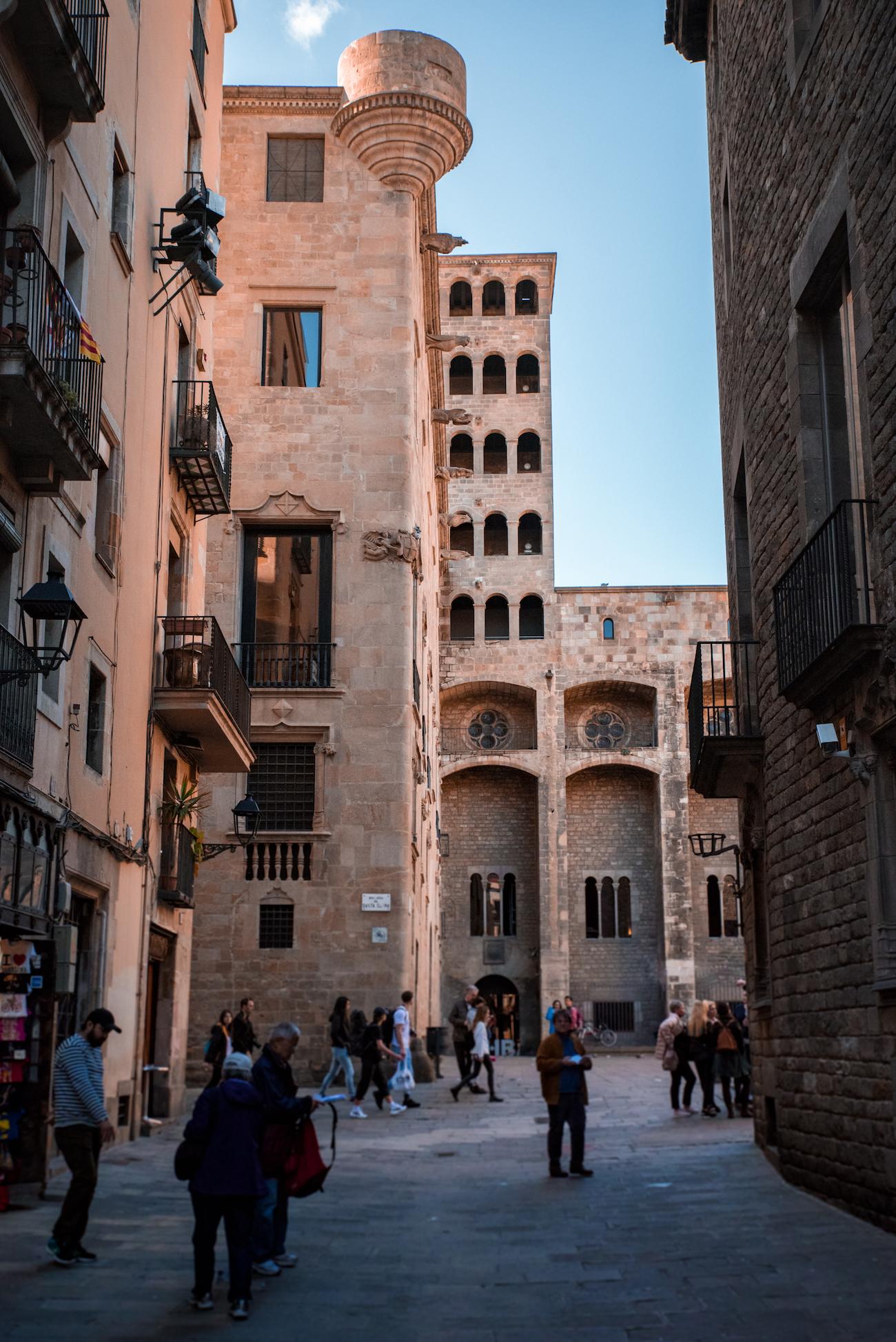 Barcelona's ancient Mirador del Rei Martí in Plaça del Rei