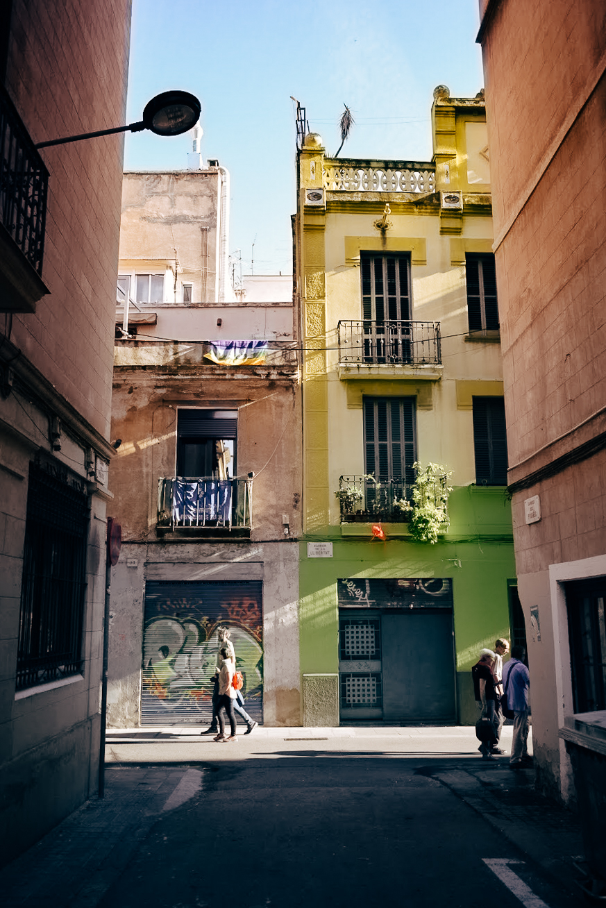 Colourful streets in Gracia, Barcelona - by Ben Holbrook from Driftwood Journals