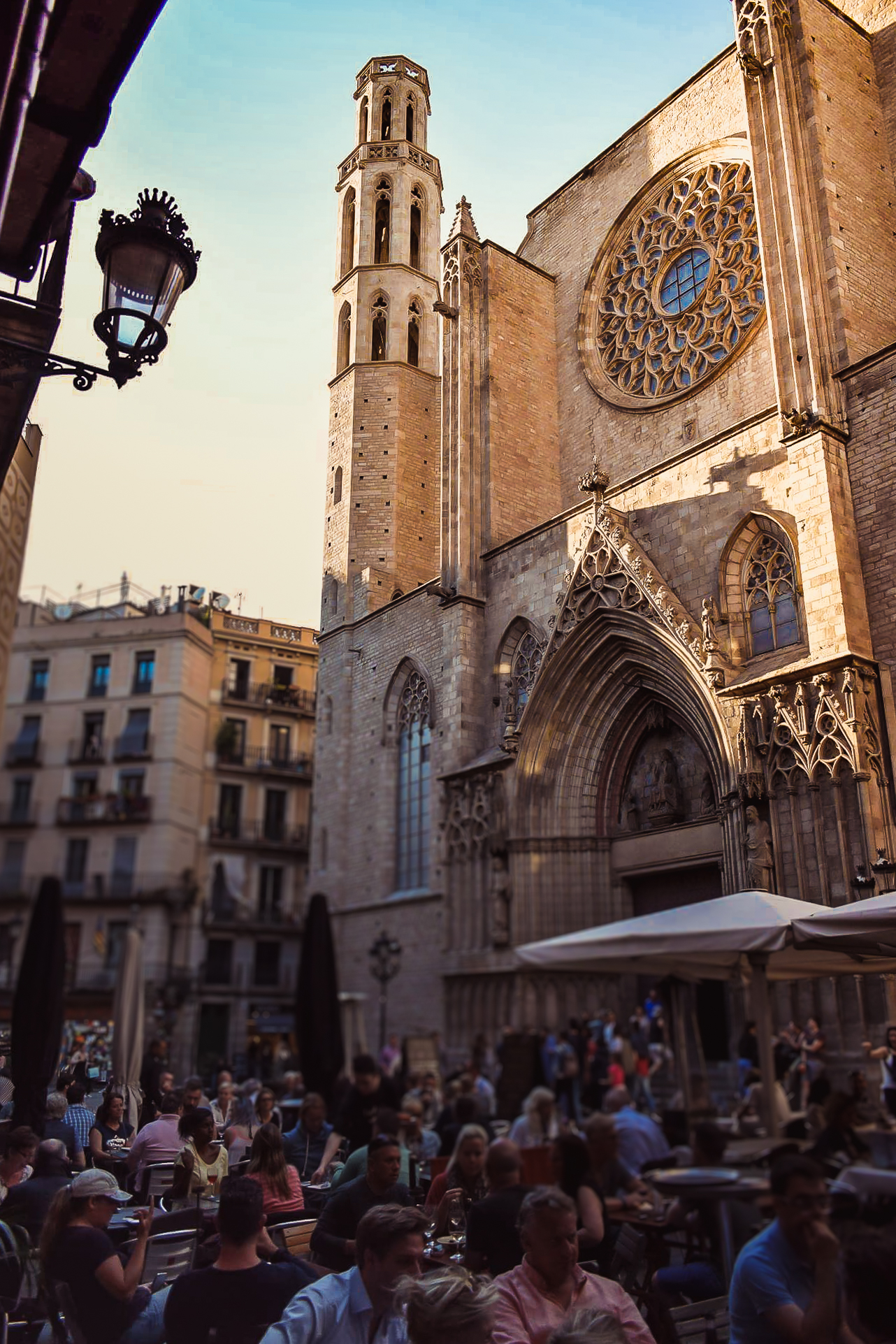 Santa Maria del Mar Gothic Church in El Born Barcelona - by Ben Holbrook from Driftwood Journals