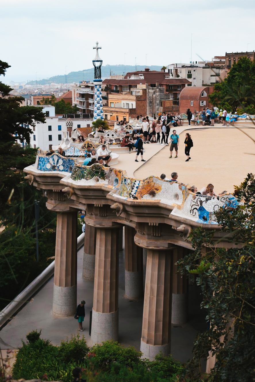 Park Guell Barcelona - by Ben Holbrook from Driftwood Journals