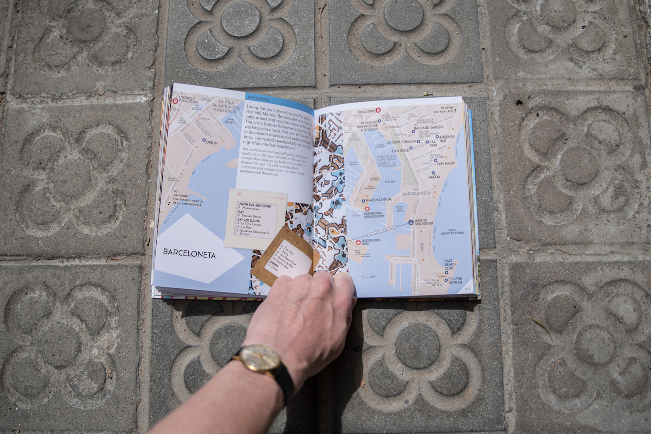 Barcelona Precincts Travel Guide Book by Ben Holbrook from DriftwoodJournals.com