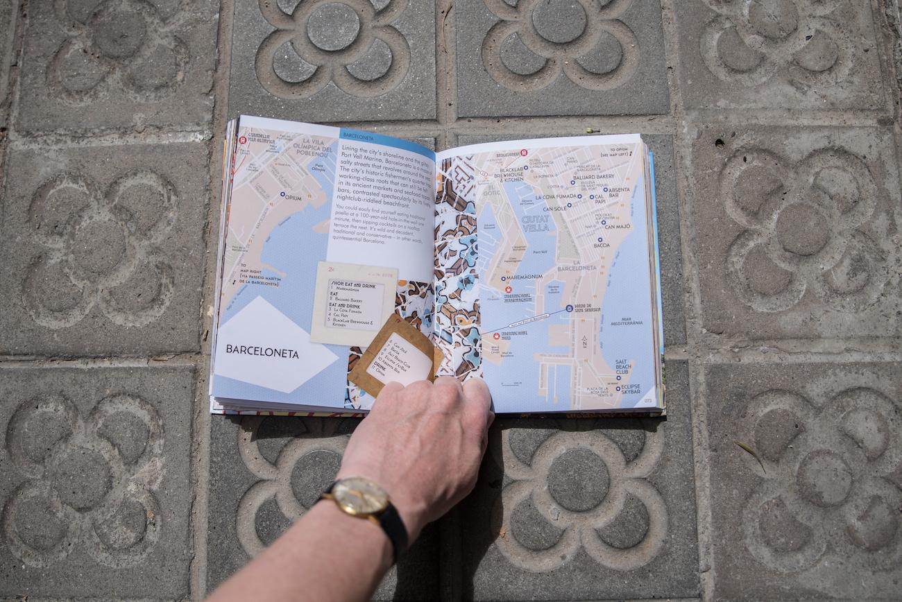 Barcelona Precincts Travel Guide Book by Ben Holbrook from DriftwoodJournals.com