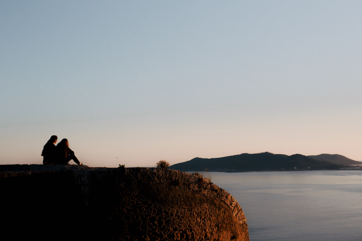 Ibiza's Baluarte de Sant Jaume viewing point at sunset - by Ben Holbrook