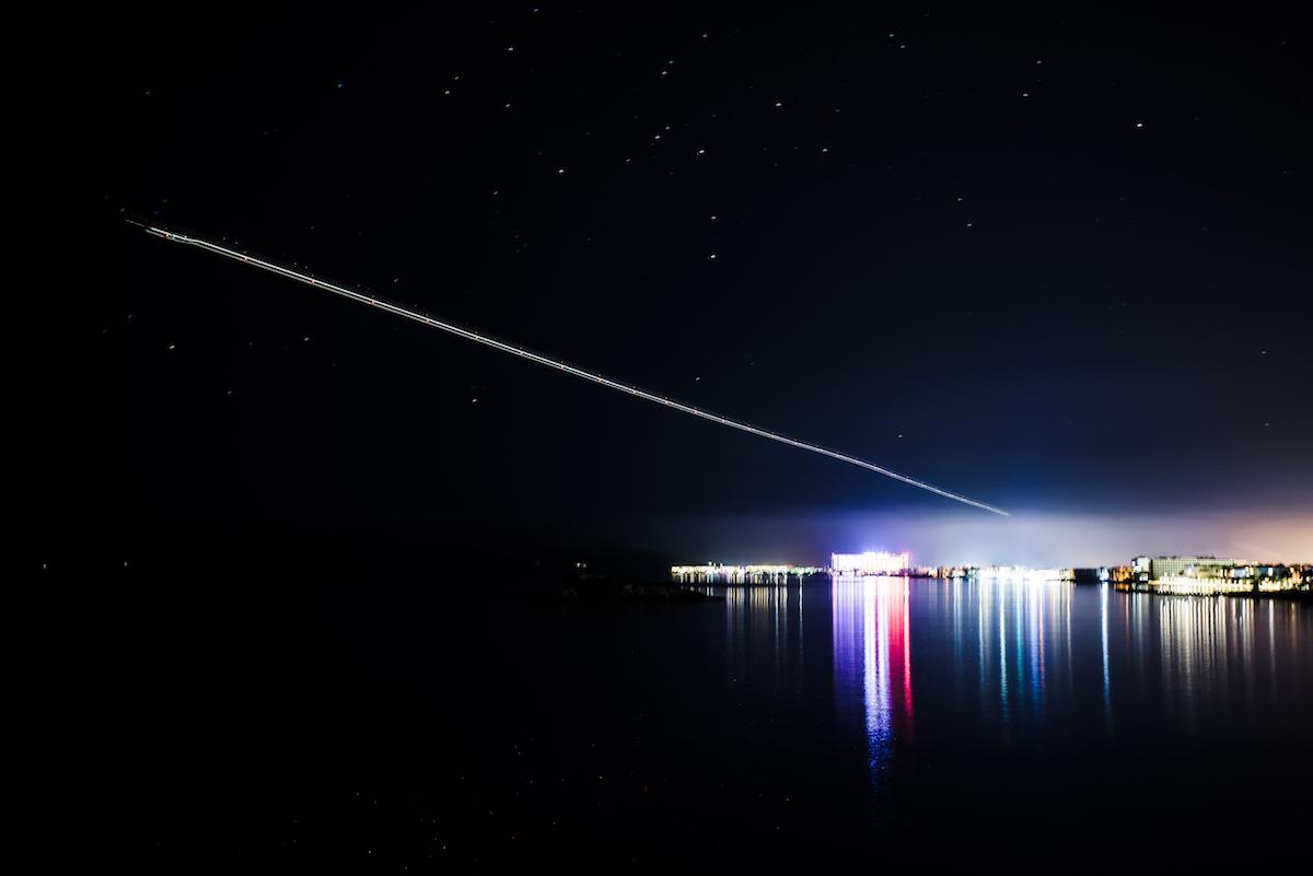 Ibiza at night - long exposure photograph by Ben Holbrook