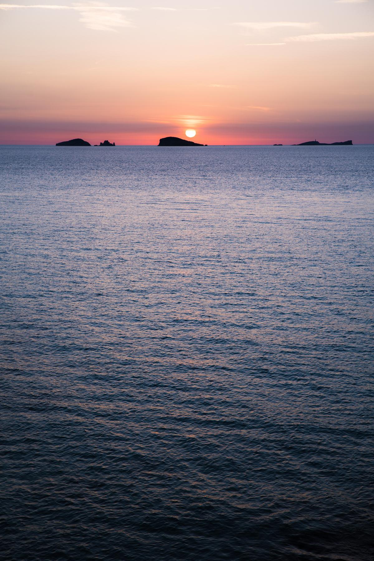 Sunset at Cala Comte, Ibiza - by Ben Holbrook