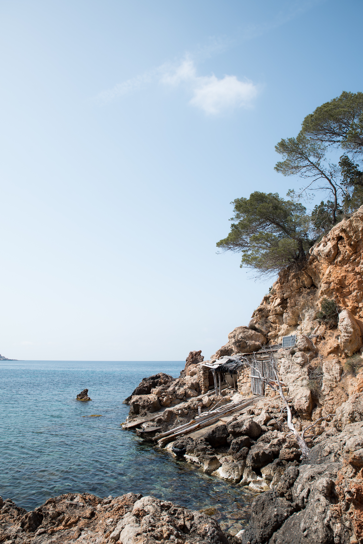 Cala Xuclar, Ibiza secret beach - by Ben Holbrook