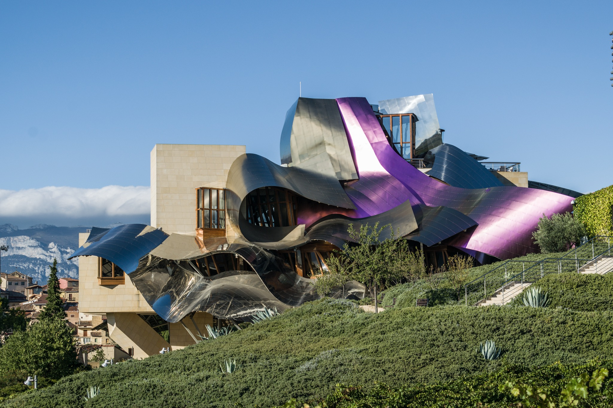 Frank Gehry's Hotel Marqués de Risca in Spain Basque Country (Rioja Alavesa)