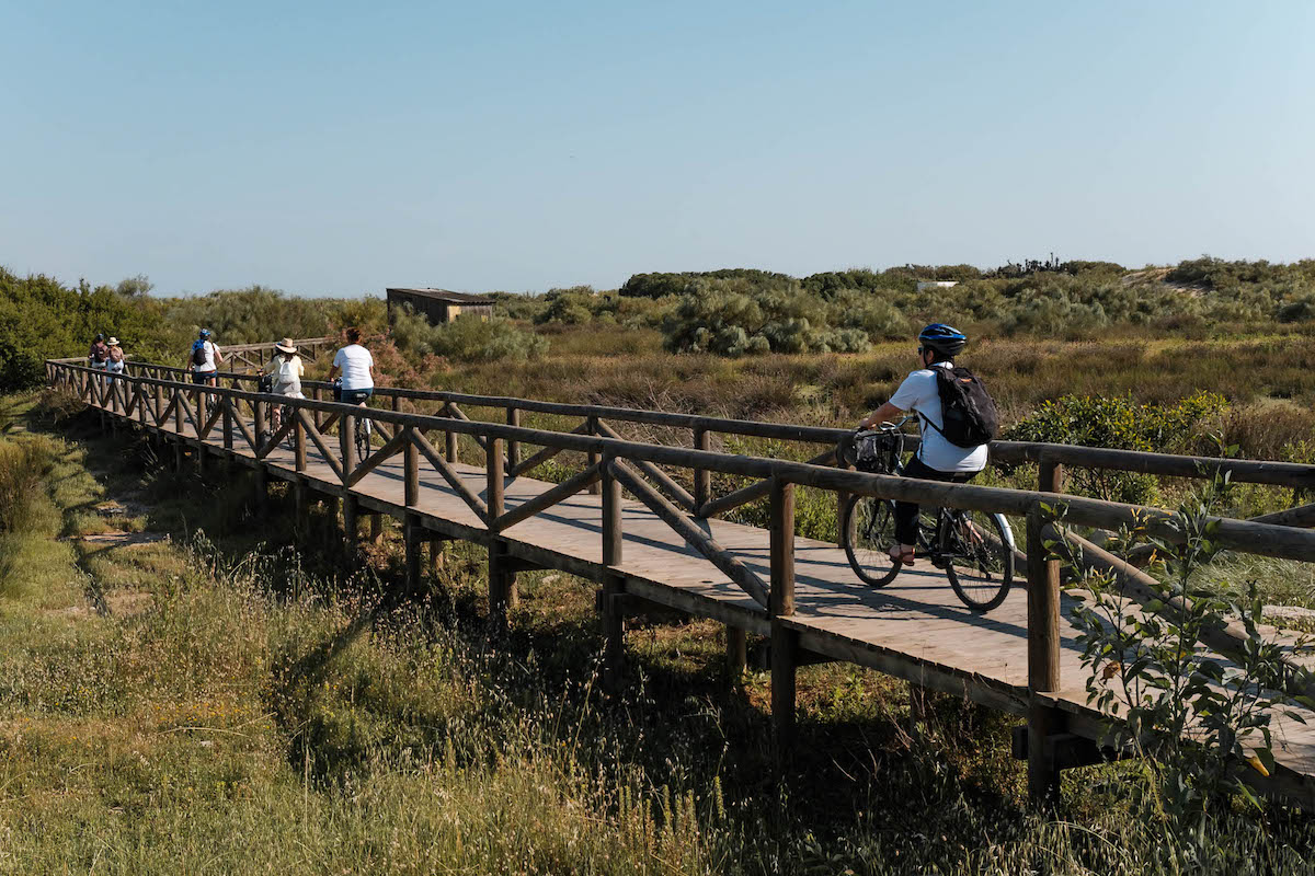 Cycling in Chipiona, Cádiz (Andalucia), Southern Spain