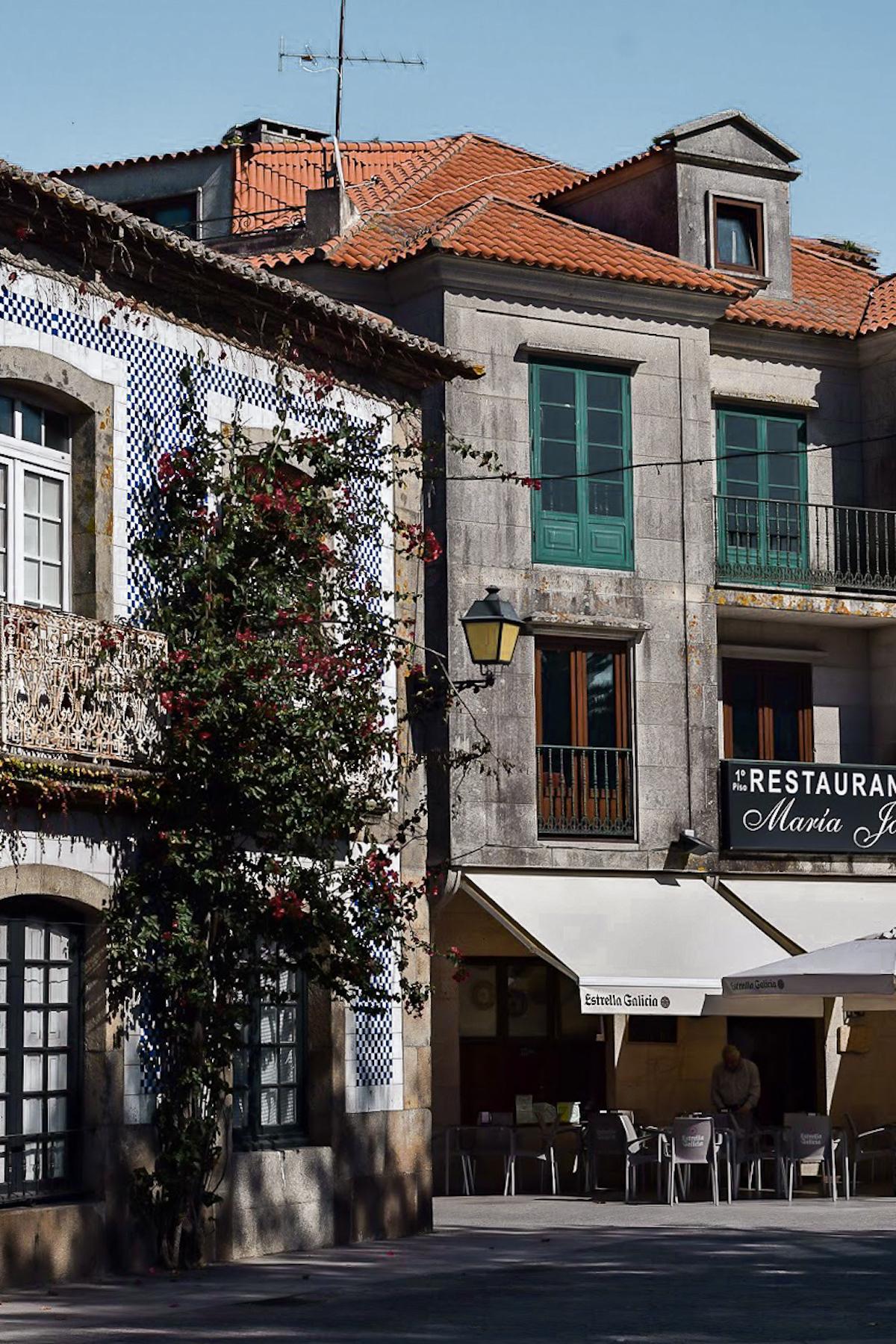 Cambados backstreets, Galicia. Northern Spain.