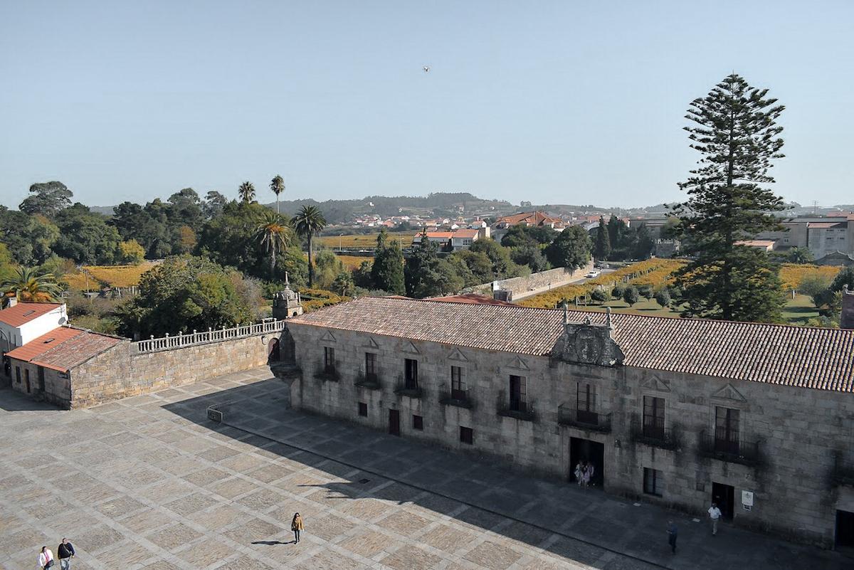 The gardens of Pazo de Fefiñanes, Cambados, Galicia, Northern Spain.