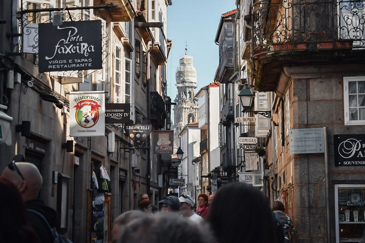 The backstreets of Santiago do Compostela