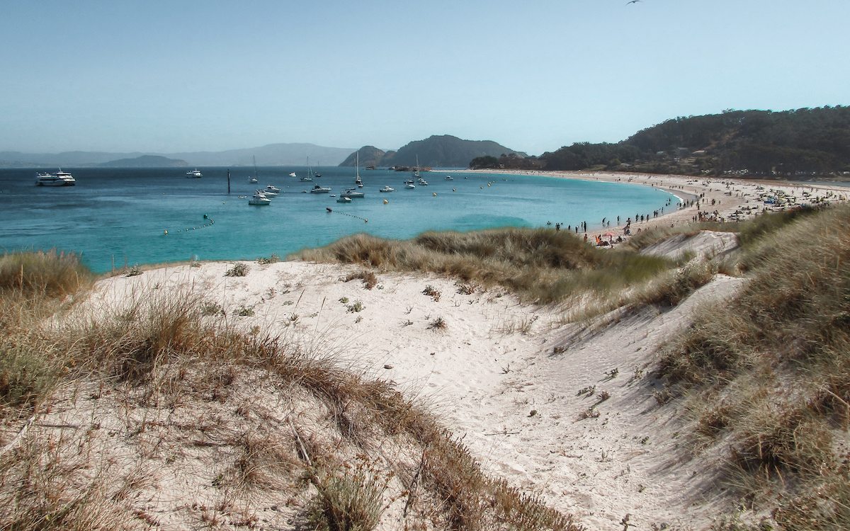 Cies Islands, just off the coast of Vigo, Galicia - by Ben Holbrook