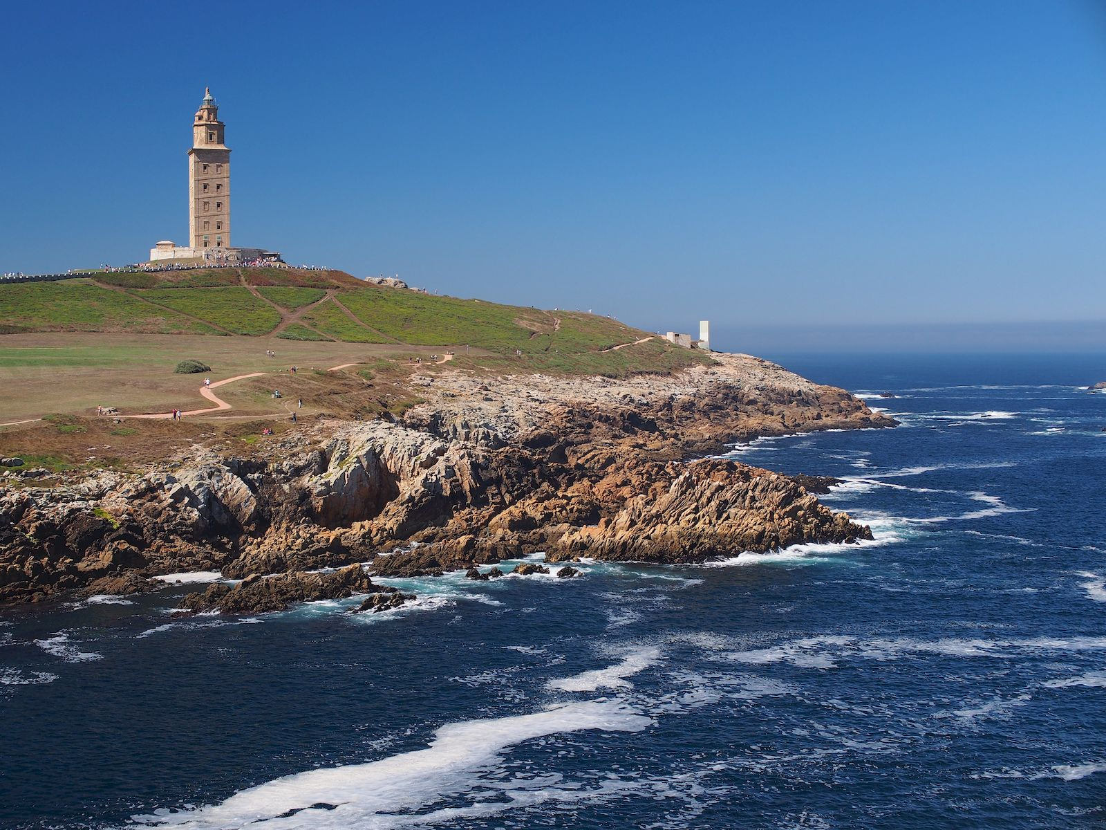 Tower of Hercules and Roman Lighthouse, A Coruna, Galicia, Northern Spain