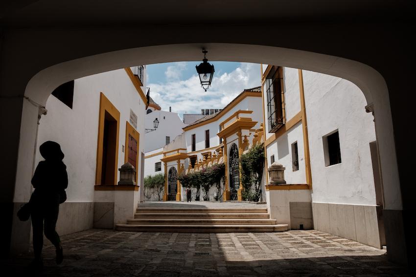 Seville's Plaza de Toros bullfighting ring - by Ben Holbrook.