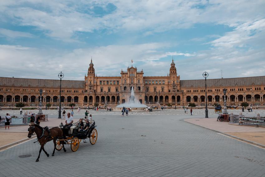 Plaza de España view from Maria Luisa Park