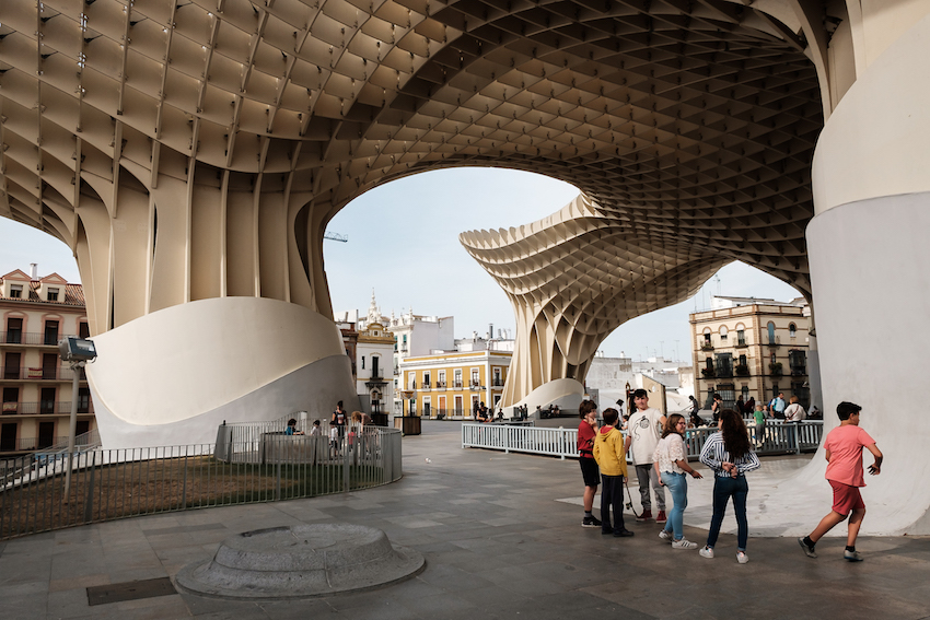 Seville's Metropol Parasol (AKA Las Setas) - by Ben Holbrook from DrifwoodJournals.com