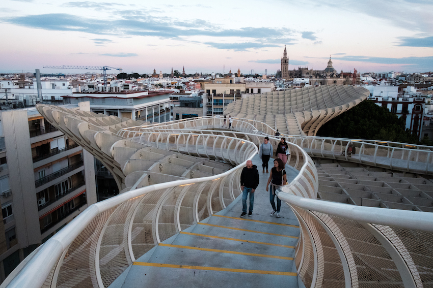 The rooftop of Seville's Metropol Parasol (AKA Las Setas) - by Ben Holbrook from DrifwoodJournals.com