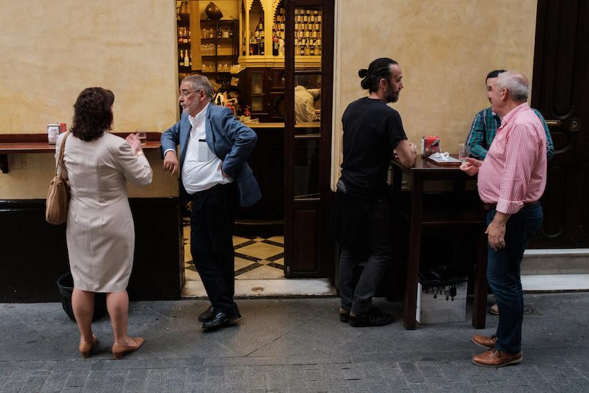 Tapas bar hopping in Seville, Spain
