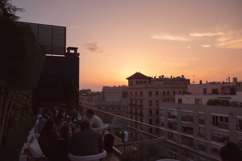 Rooftop at Sunset Edition Hotel Barcelona by Ben Holbrook from DriftwoodJournals.com-3