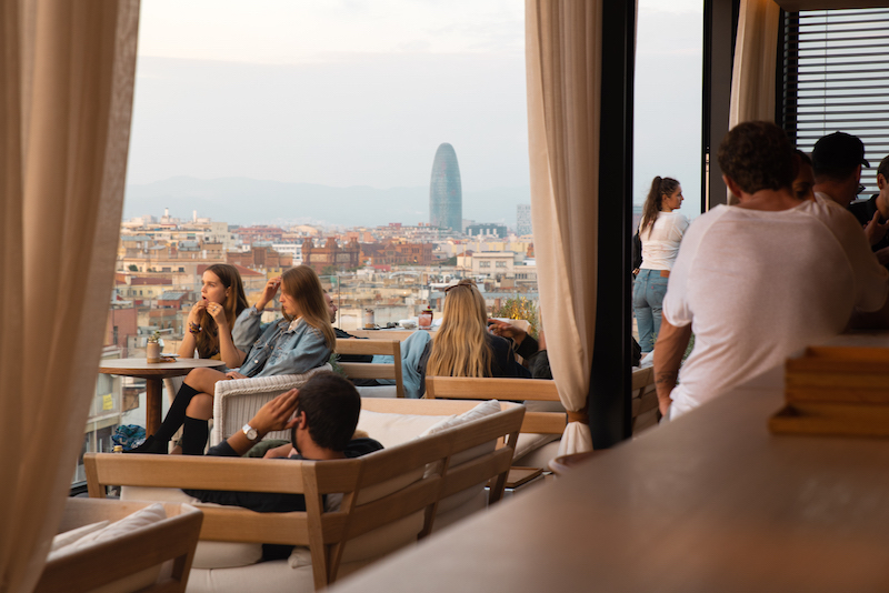 Rooftop Bar Barcelona Edition Hotel, Born Barrio Barcelona (Spain) - by Ben Holbrook from DriftwoodJournals.com-11