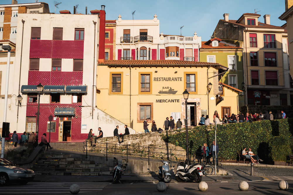 La cuesta del cholo in Gijon's ancient Cimavilla fishing quarter (famous for its sardine industry).