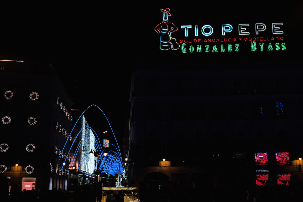 Madrid's Puerta del Sol at Night