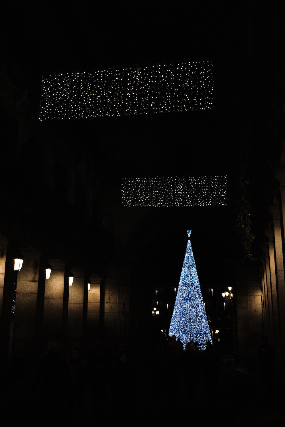 Madrid Christmas Tree and Decorations in Plaza Mayor - by Ben Holbrook from DriftwoodJournals.com