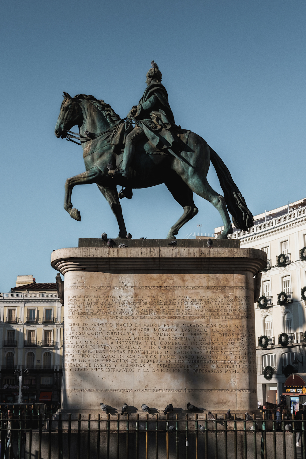 Statue of King Charles III, Puerta del Sol, Madrid Street Photography Essay - by Ben Holbrook DriftwoodJournals.com-8834