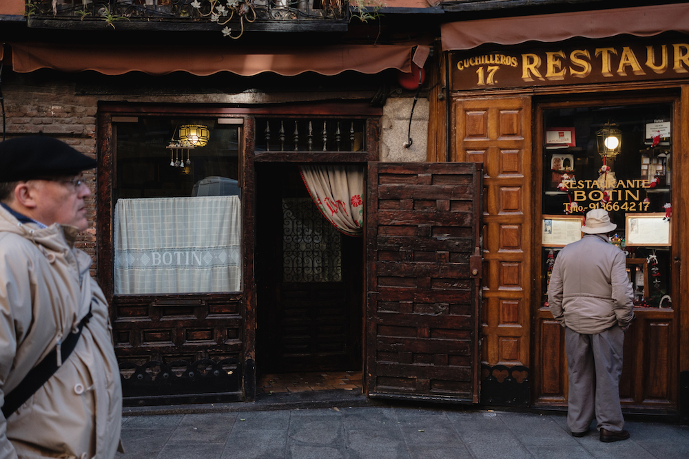 Sobrino de Botín is the oldest restaurant in Madrid –and thought to be the oldest restaurant in the world today.