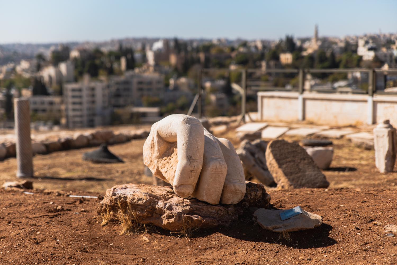 Hercules' hand at Amman Citadel, Jordan - by Ben Holbrook from DriftwoodJournals.com-1