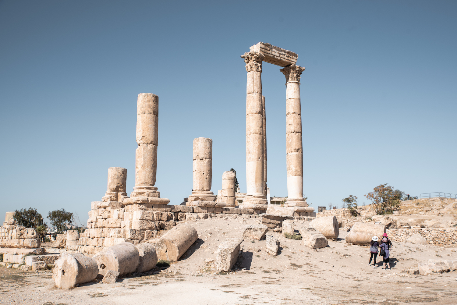 Temple of Hercules, Amman Citadel, Jordan - by Ben Holbrook from DriftwoodJournals.com