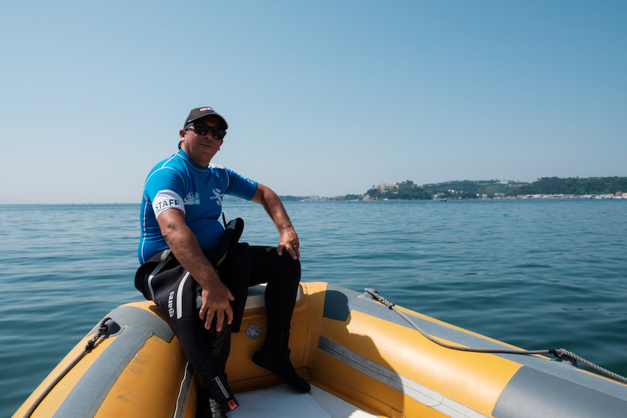 Alessandro Dive Instructor at Baia Diving - by Ben Holbrook
