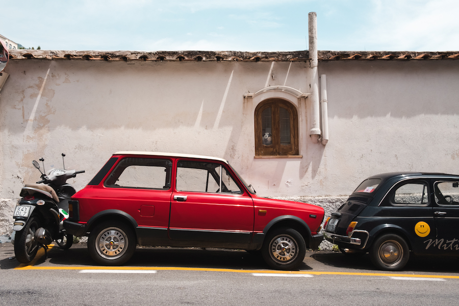 Old Fiats in Positano, Italy Tavel Photography By Ben Holbrook from DriftwoodJournals.com-4183