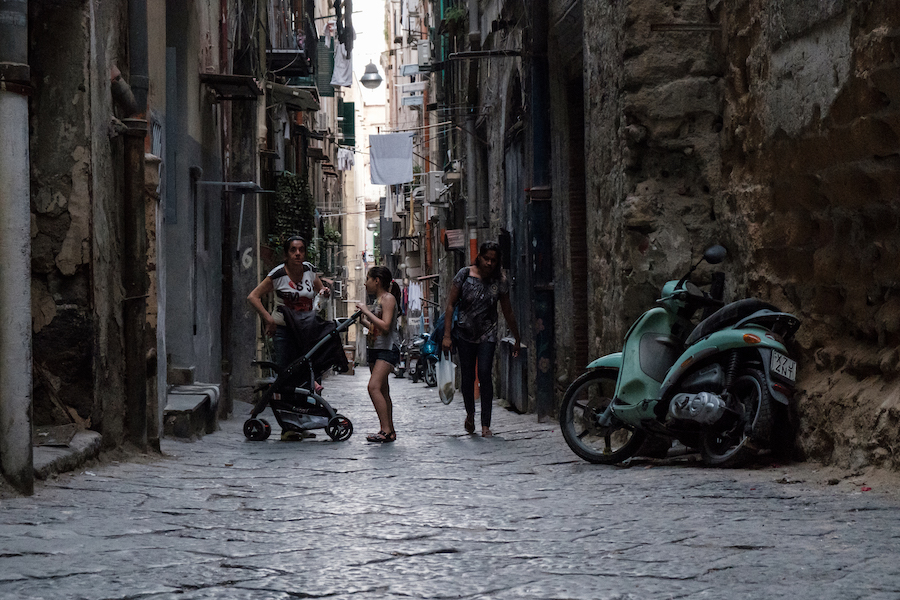 Backstreets off Spaccanapoli - by Ben Holbrook