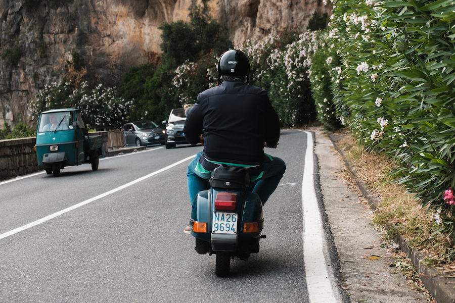 Scooter riding on the Amalfi Coast in Italy,Naples, Italy Tavel Photography By Ben Holbrook from DriftwoodJournals.com-4450