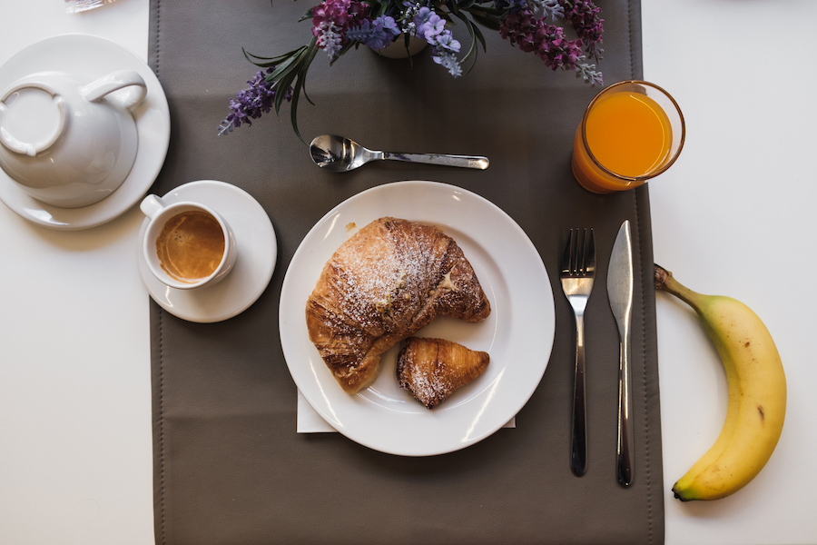Breakfast at the Fontanina Suites in Naples.