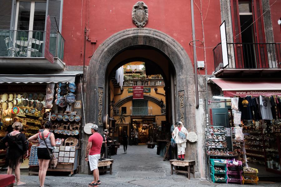 Via San Gregorio Armeno in Naples Centro Storico - AKA Christmas Alley - by Ben Holbrook Colour