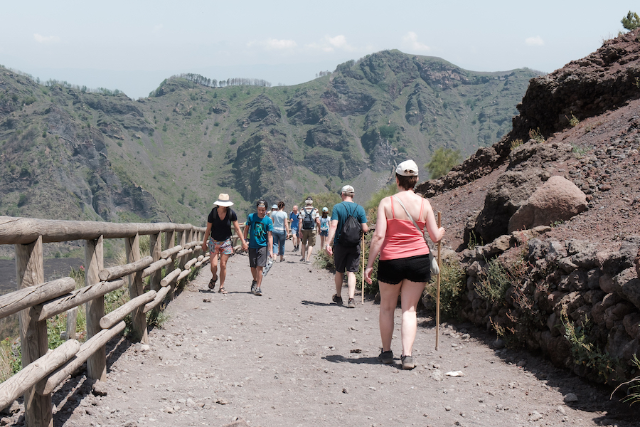 Waling up Mount Vesuvius - by Ben Holbrook