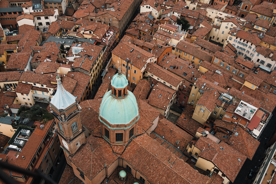 Views over Bologna from the leaning towers of Garisenda and Asinelli, Italy Things to Do – Travel Photography by Ben Holbrook from DriftwoodJournals.com21 1