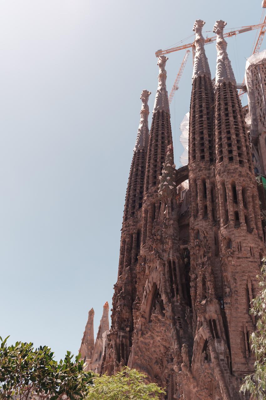 La Sagrada FAmilia Barcelon aNativity Facade