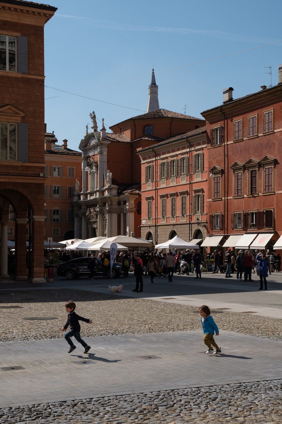 Local life in Piazza Roma, Modena, Italy - by Ben Holbrook from DriftwoodJournals.com