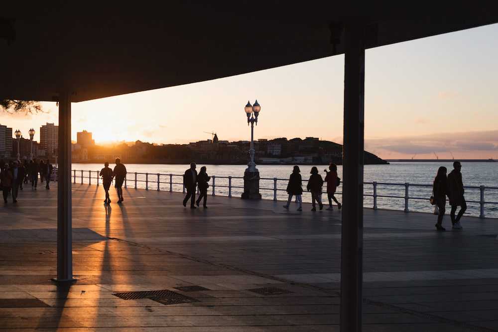 Sunset in Gijon, Asturias, northern Spain by Ben Holbrook from DriftwoodJournals.com