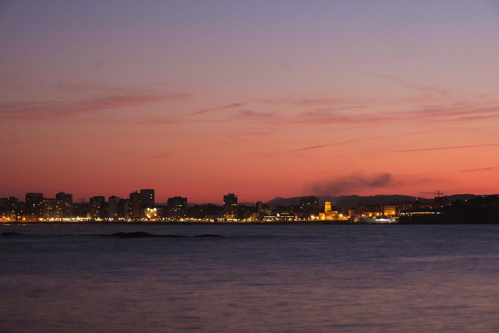 Gijón sunset, Asturias, northern Spain by Ben Holbrook from DriftwoodJournals.com
