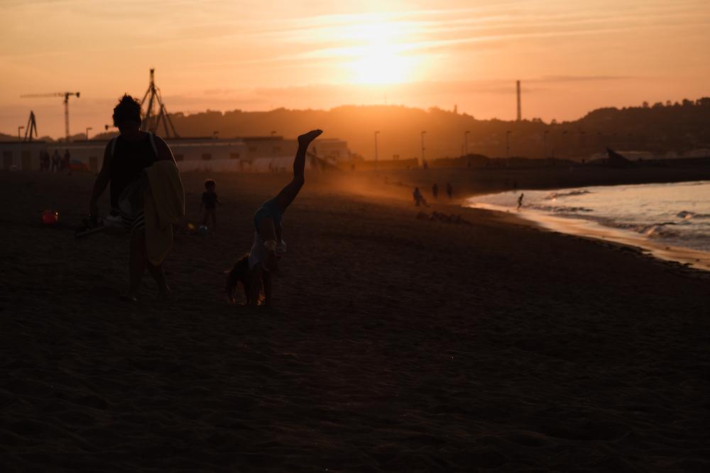 Playa de Poniente, Gijón, Asturias, northern Spain by Ben Holbrook from DriftwoodJournals.com